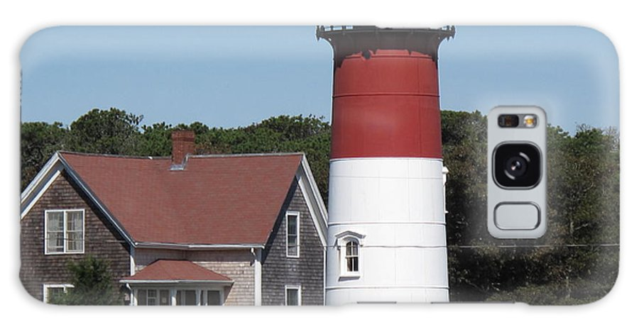 Lighthouse Galaxy S8 Case featuring the photograph Red Beacon On Nauset Light by Barbara McDevitt