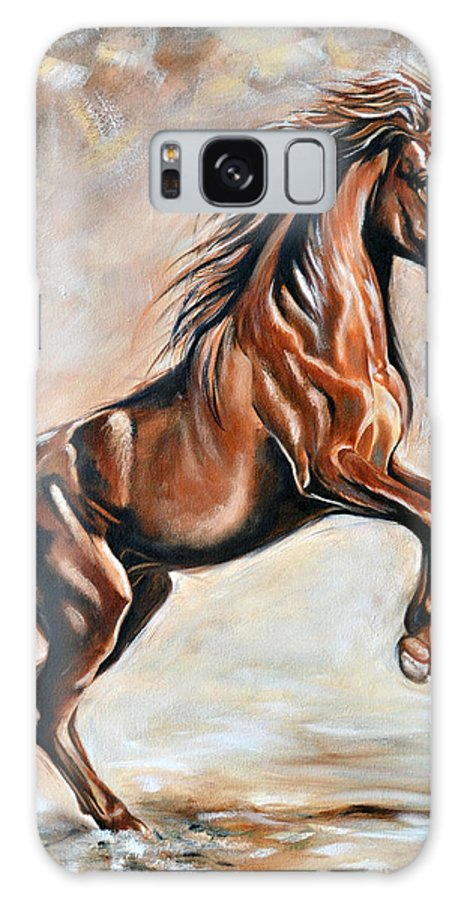 Horse Galaxy S8 Case featuring the painting Red Beauty by Ilse Kleyn