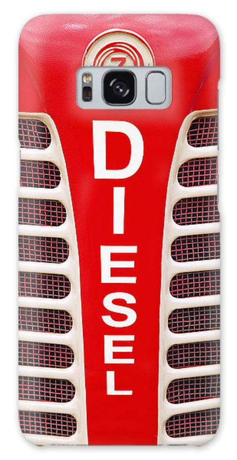 Shiny Galaxy S8 Case featuring the photograph Red Bumper On Vehicle Labeled Diesel by Peter Zoeller