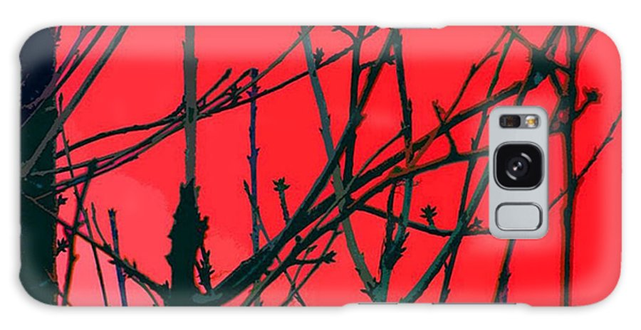 Red Galaxy S8 Case featuring the digital art Red by Carol Lynch