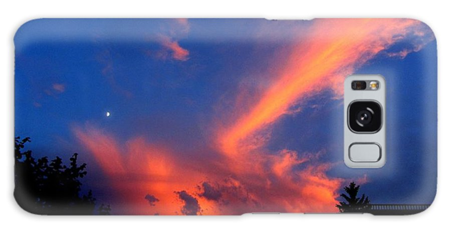Clouds Galaxy S8 Case featuring the photograph Red Clouds In The Evening by Helmut Rottler