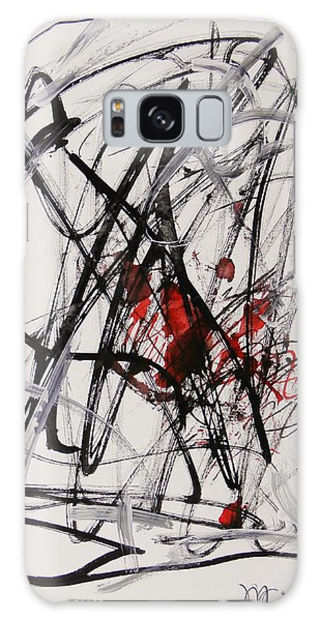 Red Dragon Galaxy S8 Case featuring the drawing Red Dragon by Mary Carol Williams