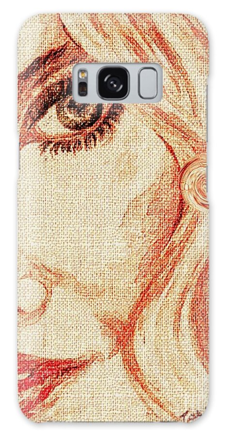 #teresa Galaxy S8 Case featuring the painting Red Eyes. by Teresa White