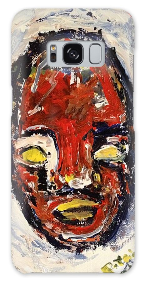 Self Portrait Galaxy S8 Case featuring the painting Red Face Red Mine by Patrick Humphreys