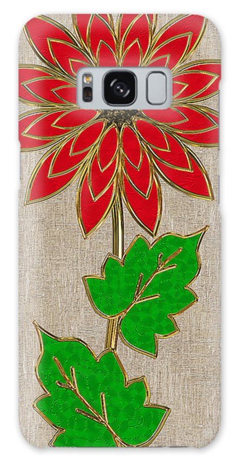 Red Galaxy S8 Case featuring the digital art Red Flower 1 Of 4 by Pat Follett