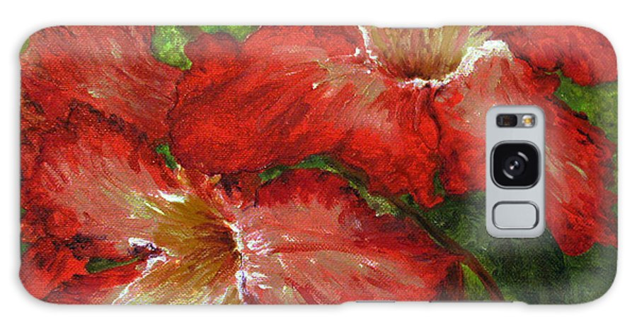 Flower Galaxy S8 Case featuring the painting Red Flowers by Nancie Johnson