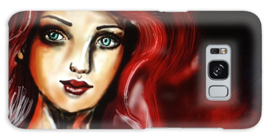 Red Galaxy S8 Case featuring the digital art Red Girl by Shelby Rawlusyk