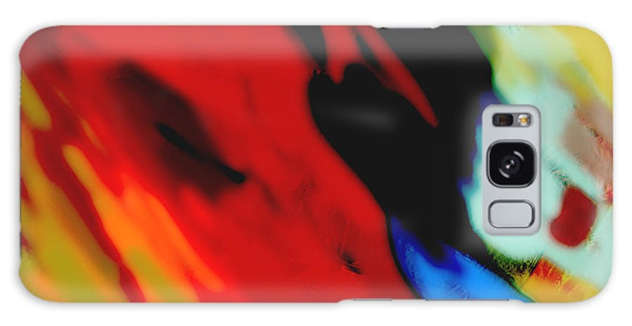 Abstract Galaxy S8 Case featuring the painting Red Hot Fiesta by Ann Powell