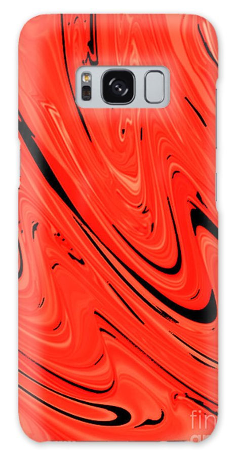Red Galaxy S8 Case featuring the digital art Red Hot Lava Flowing Down by Minding My Visions by Adri and Ray