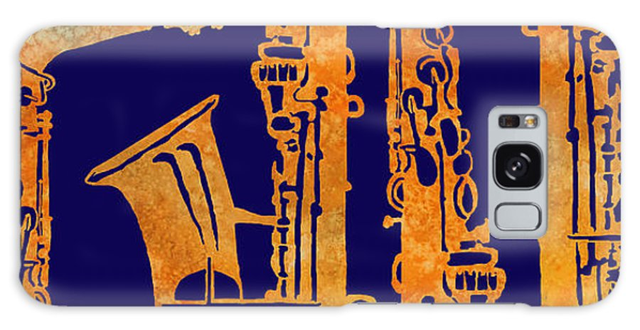Sax Galaxy S8 Case featuring the painting Red Hot Sax Keys by Jenny Armitage