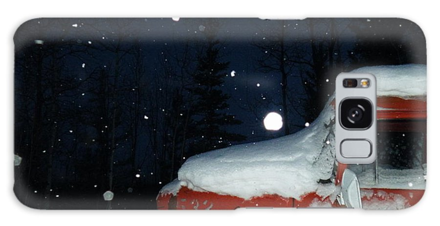 Red Galaxy S8 Case featuring the photograph Red International Singing Those Deep Winter Blues by Brian Boyle