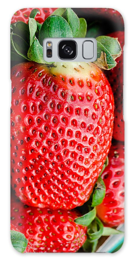 Big Galaxy S8 Case featuring the photograph Red Juicy Delicious California Strawberry by Michael Moriarty