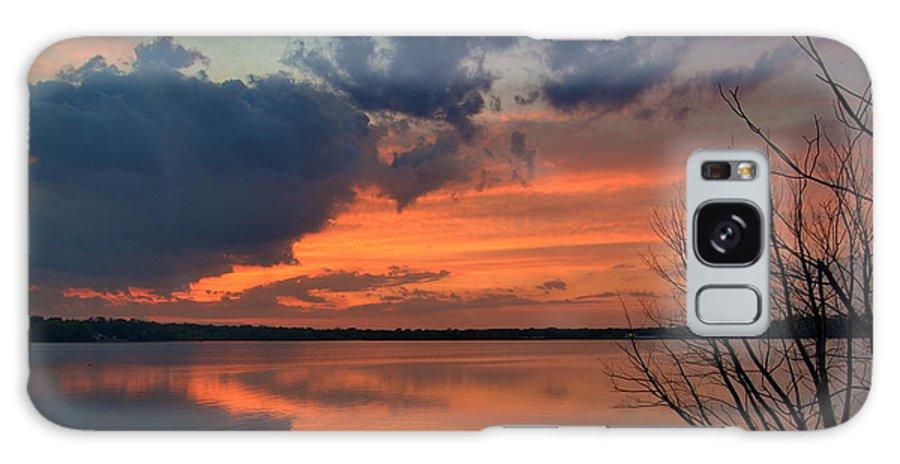 Sunset Galaxy S8 Case featuring the photograph Red Lake Sky by Tony Ambrosio