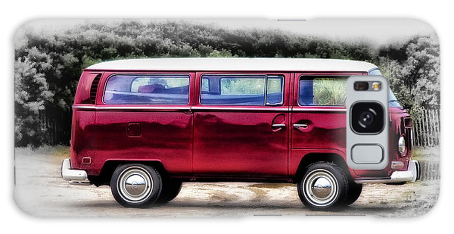 Red Galaxy S8 Case featuring the photograph Red Microbus by Bill Cannon