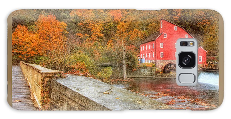 Red Mill Galaxy S8 Case featuring the photograph Red Mill With Texture by Pat Abbott