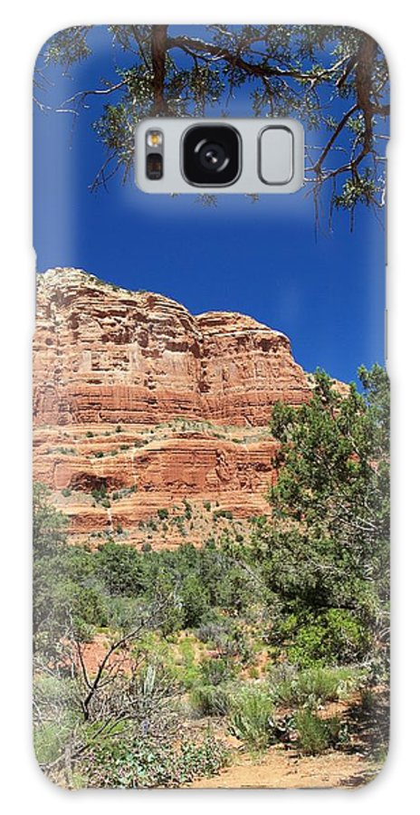 Arizona Galaxy S8 Case featuring the photograph Red Mountain by Steve Ondrus