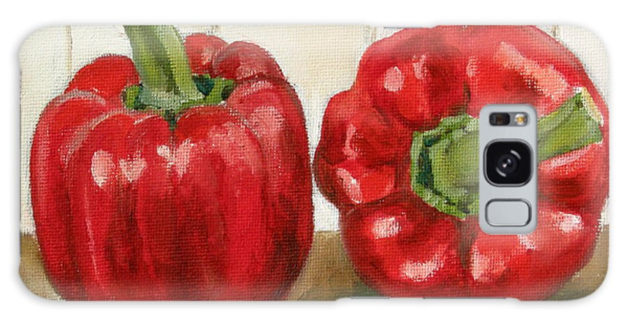 Food Galaxy Case featuring the painting Red Pepper by Sarah Lynch