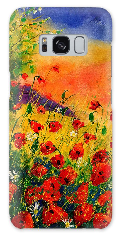 Poppies Galaxy Case featuring the painting Red Poppies 45 by Pol Ledent