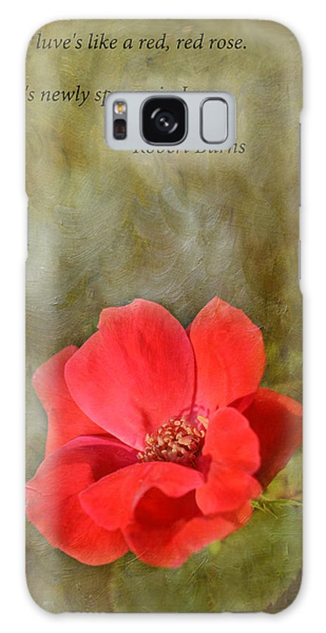 Poem Galaxy Case featuring the photograph Red Red Rose by Keith Gondron