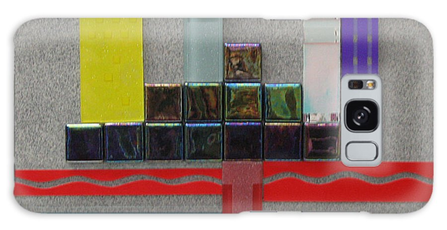 Assemblage Galaxy Case featuring the relief Red River City by Elaine Booth-Kallweit