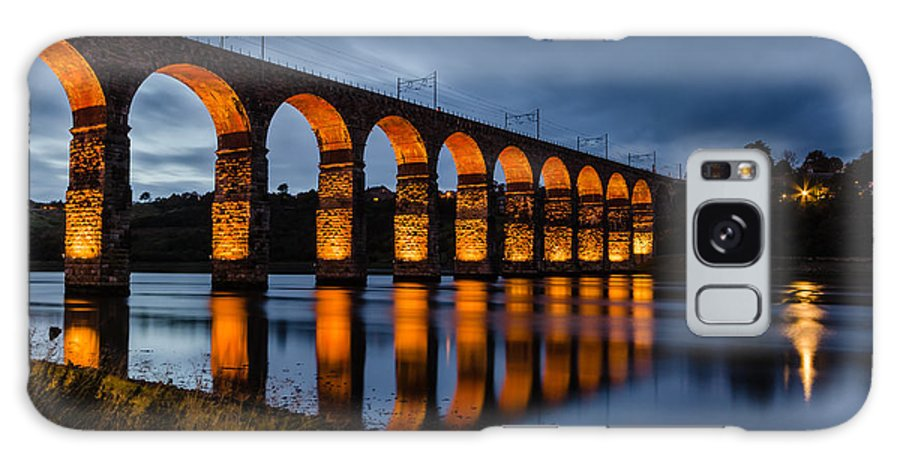 Northumberland Galaxy S8 Case featuring the photograph Red Royal Border Bridge by David Head