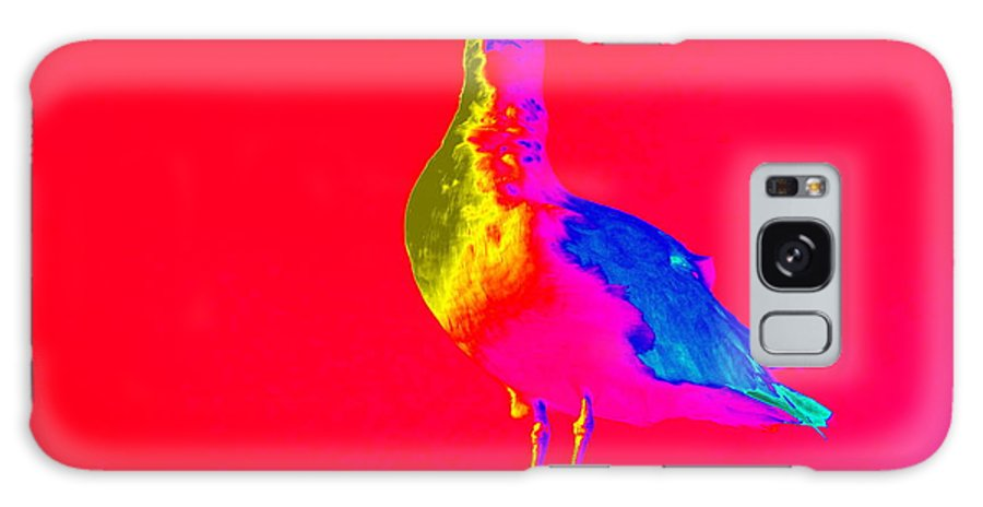 Pop Art Galaxy S8 Case featuring the photograph Red Sky Seagull by Ed Weidman