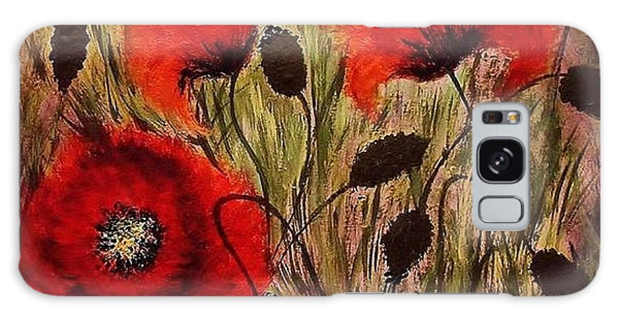 Poppies Galaxy S8 Case featuring the painting Red Sparks... by Cristina Mihailescu