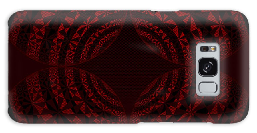 Red Star Galaxy S8 Case featuring the digital art Red Star by Meiers Daniel