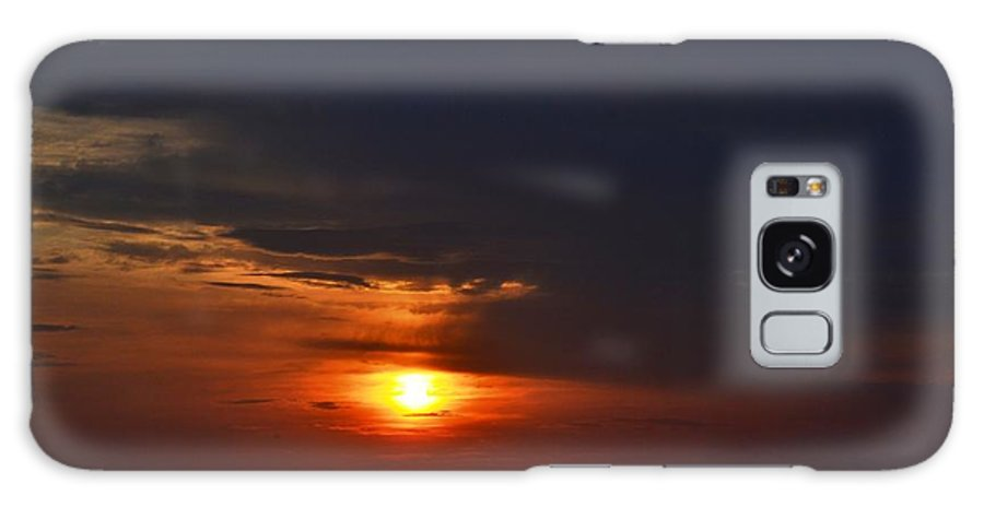 Sunset Galaxy S8 Case featuring the photograph Red Sunset by Chris Carswell