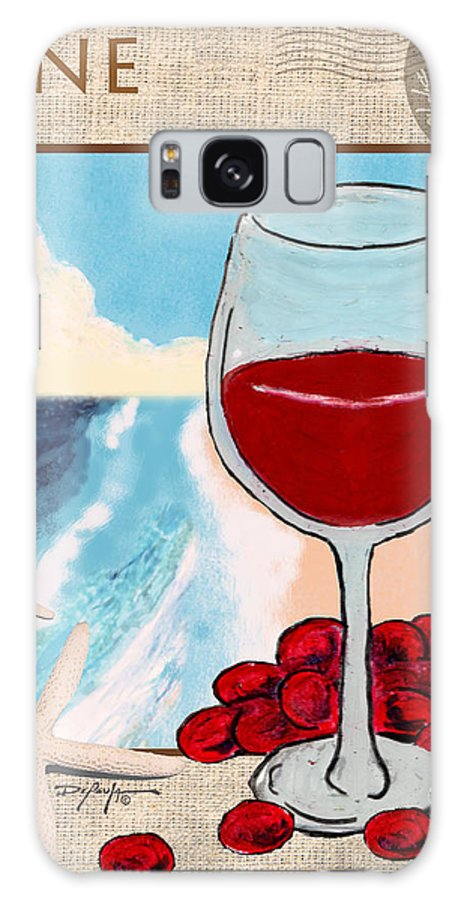 Red Wine Galaxy S8 Case featuring the mixed media Red Wine by William Depaula