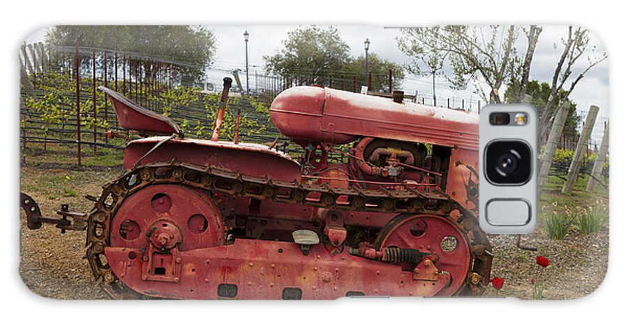 Tractor Galaxy S8 Case featuring the photograph Red Winery Tractor by Jason O Watson