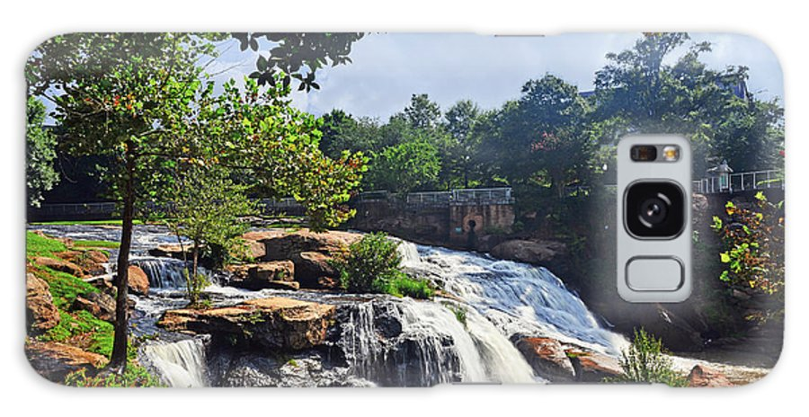 Nature Galaxy S8 Case featuring the photograph Reedy River Falls by Elvis Vaughn