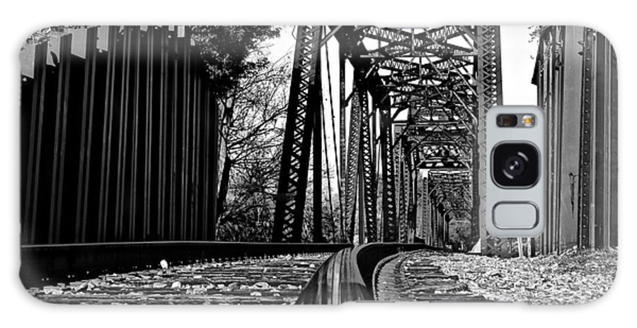 Railroad Galaxy S8 Case featuring the photograph Reflected Strength by Reid Callaway