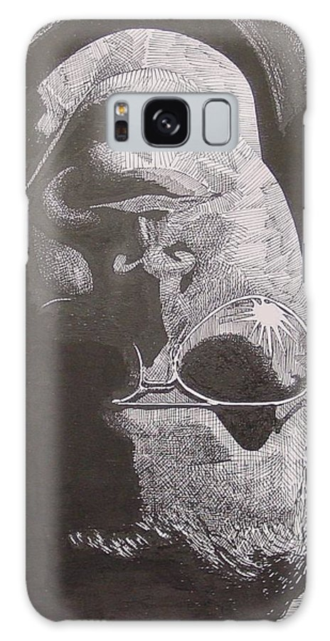 Portraiture Galaxy Case featuring the drawing Reflection by Denis Gloudeman