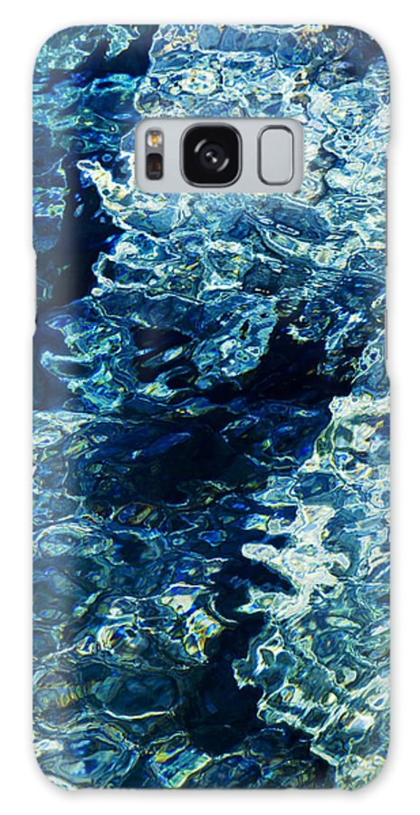 Reflection Galaxy S8 Case featuring the photograph Reflection In Blue Water by Raimond Klavins