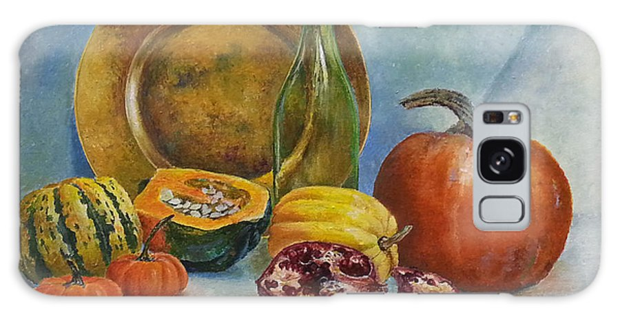 Still Life Galaxy S8 Case featuring the painting Reflection Of Fall by Iryna Hamill