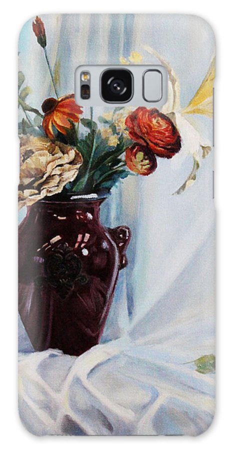 Flowers Galaxy S8 Case featuring the painting Reflection Of Summer by Iryna Hamill