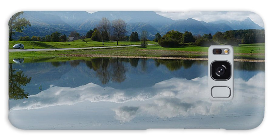 Austria Galaxy S8 Case featuring the photograph Reflections - Flooded Field - Austria by Phil Banks