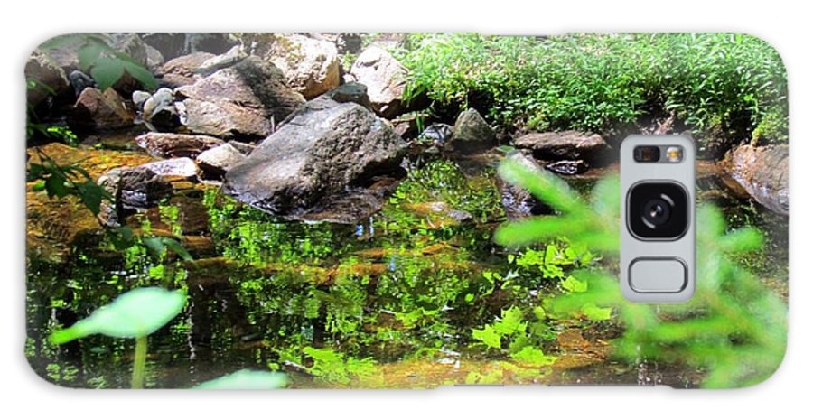 Reflections Galaxy S8 Case featuring the photograph Reflections In The Stream by Elizabeth Dow