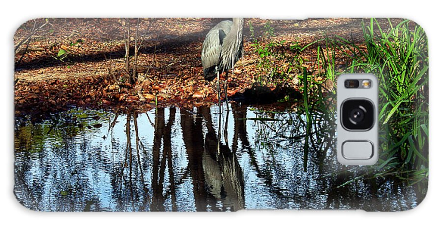 Nature Galaxy S8 Case featuring the photograph Reflections Of A Heron by Earl Johnson