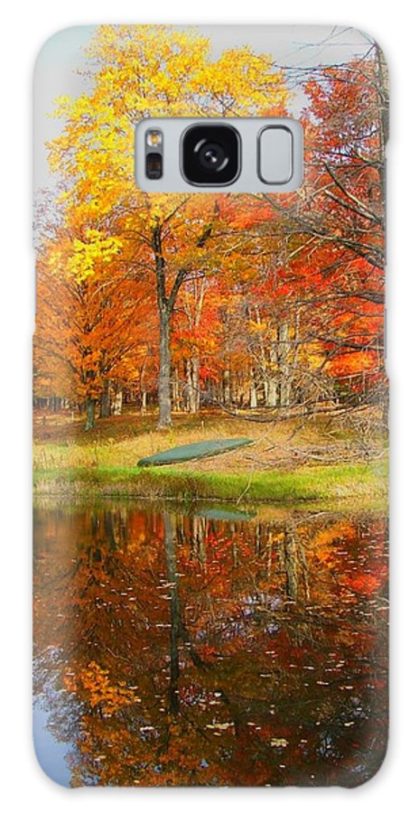Fall Galaxy Case featuring the photograph Reflections Of Autumn by Judy Waller