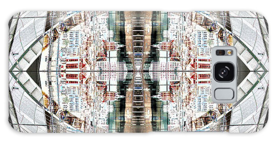 Architecture Galaxy S8 Case featuring the digital art Reflections Of Gateshead 2 by Stephanie Grant