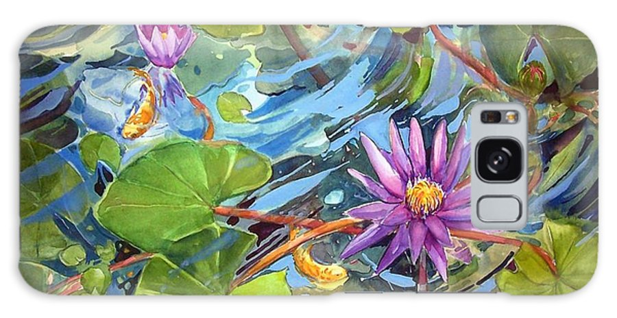 Waterlilies Galaxy S8 Case featuring the painting Reflections by Sue Kemp