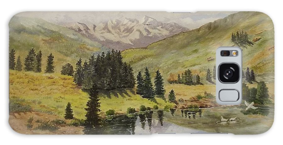Landscape Galaxy Case featuring the painting Reflections by Wanda Dansereau