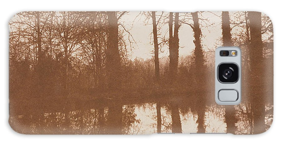 Lake; Reflection; Trees; Sunset; Evening; Winter; Early Photograph Galaxy S8 Case featuring the photograph Reflections by William Henry Fox Talbot