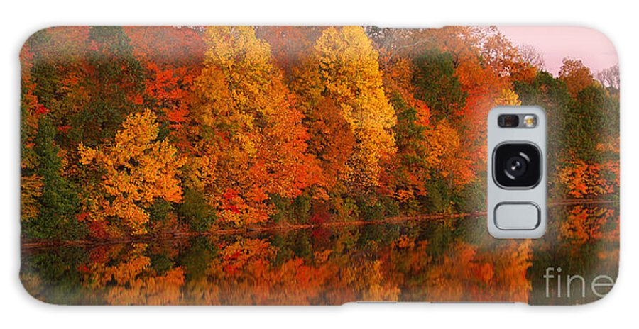 Lake Nockamixon Galaxy S8 Case featuring the photograph Reflective Lake Nockamixon Pano - Twilight by Anna Lisa Yoder