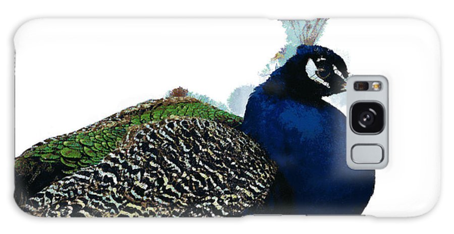 Regal Peacock Galaxy S8 Case featuring the digital art Regal Peacock by Mary Machare
