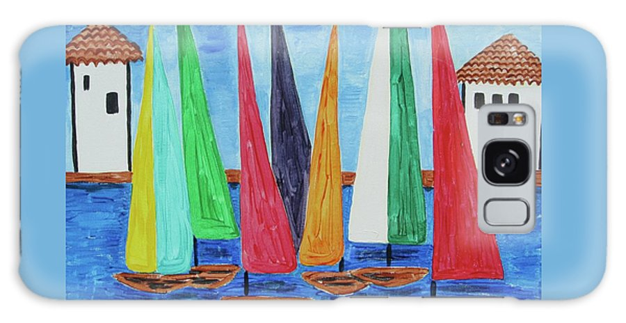 Sailboat Race Galaxy S8 Case featuring the painting Regatta by Diane Pape