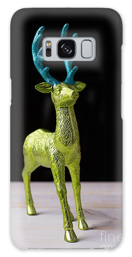 Reindeer Galaxy S8 Case featuring the photograph Reindeer Christmas Card by Edward Fielding