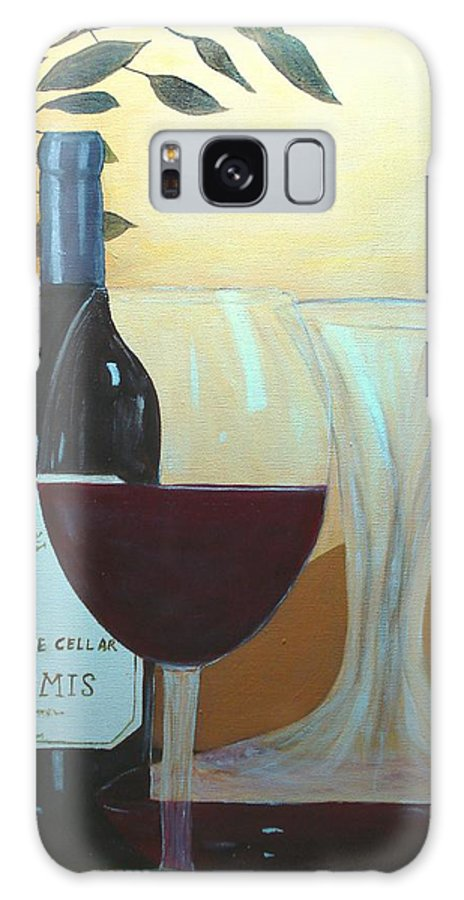 Wine Galaxy S8 Case featuring the painting Relax And Enjoy by June Holwell
